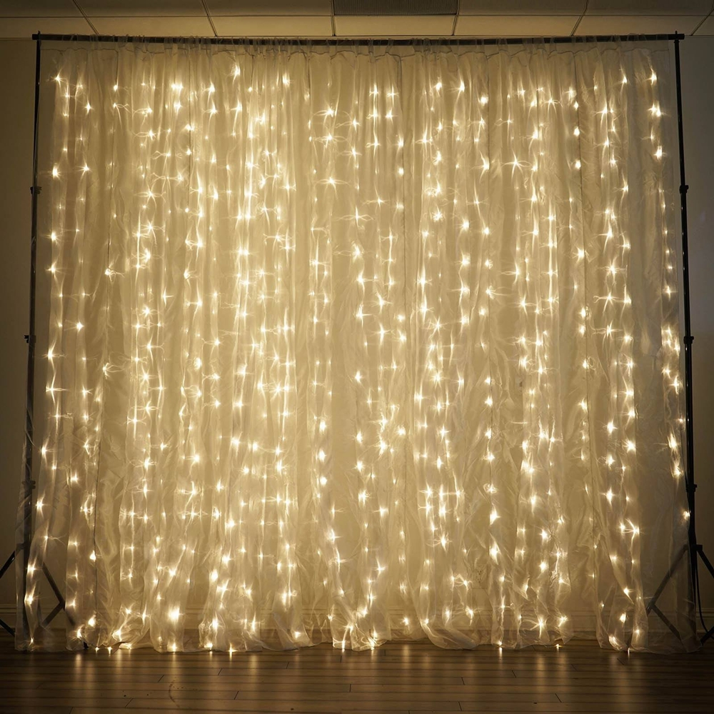 600 Led Curtain Lights Warm White Theperfectco