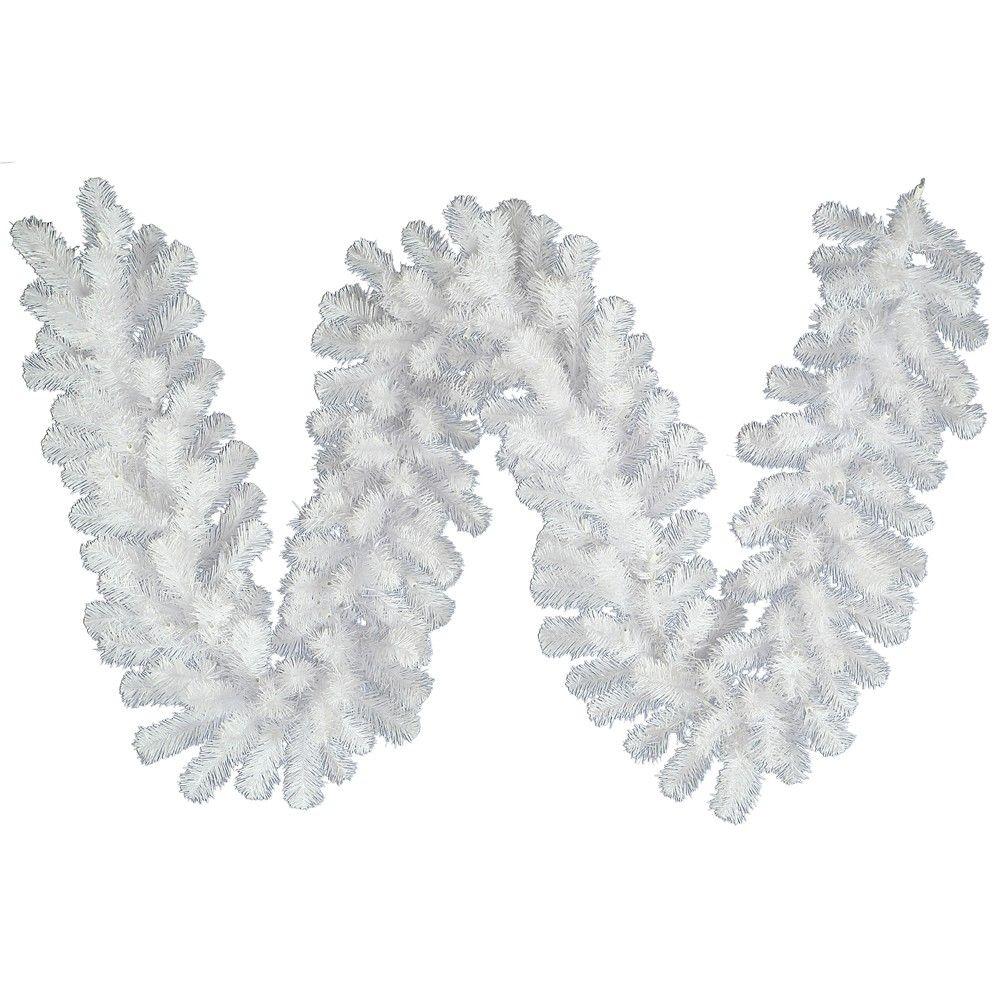 9 X 8 Artificial Christmas Garland White Theperfectco Com
