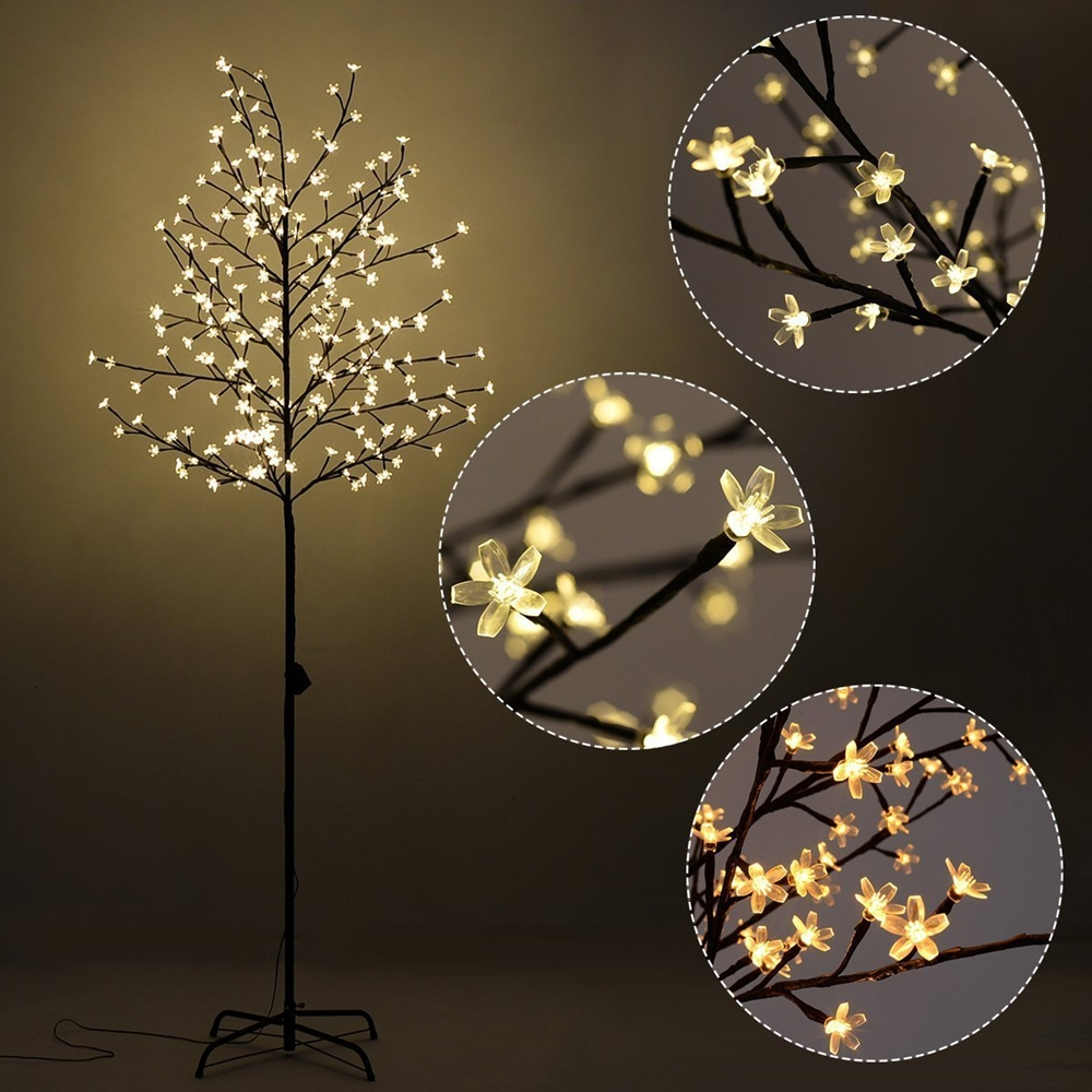 6ft 150l Lighted Cherry Blossom Tree Warm White
