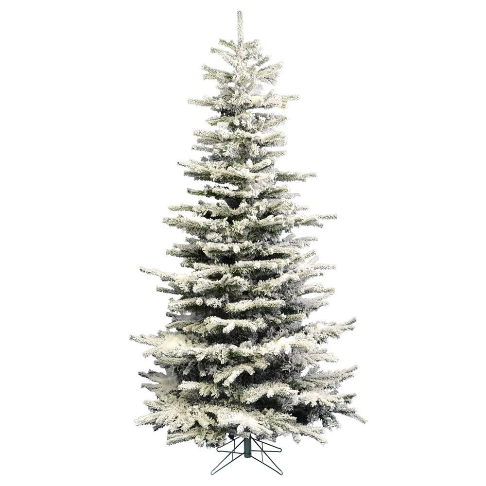 5ft Prelit Slim Christmas Tree – Heavy Flocked ...