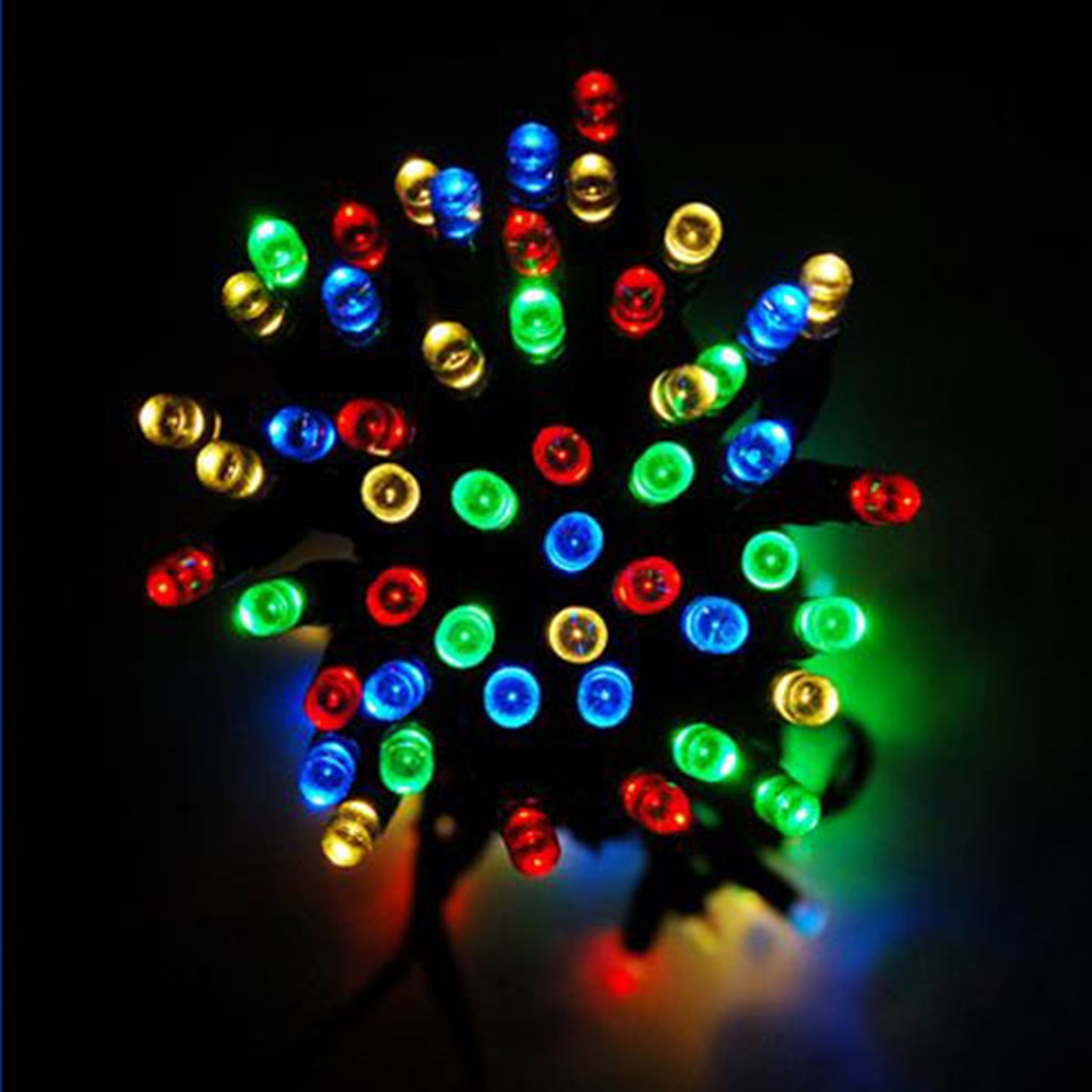 100 Led String Solar Lights Multicolor Sol 100mt Swch