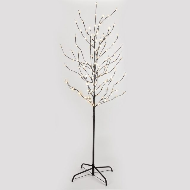 5ft 120l Lighted Twig Tree Warm White